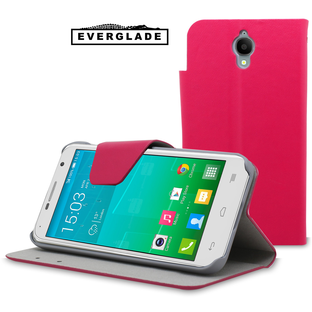 Etui Folio Everglade rose Articulé pour Alcatel One Touch Idol 2 mini pour Alcatel