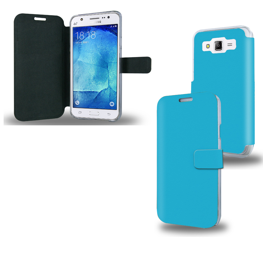 acheter Housse Etui portefeuille bleu clair Samsung Galaxy J5
