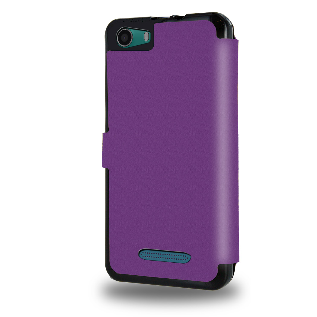 Housse etui portefeuille violet wiko lenny 2 for Housse wiko lenny 2