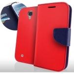 Etui Slim Samsung Galaxy S4 i9500 ouverture portefeuille rouge pour Samsung