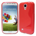 silicone Samsung Galaxy S4 i9500 rouge pour Samsung