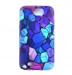 Silicone cube bleu Samsung Galaxy Note 2