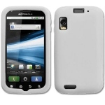 Silicone Motorola Atrix MB860 Blanc