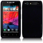 Black Silicone Case Motorola RAZR for Motorola