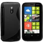 Silicone Nokia Lumia 620 Noir pour Nokia