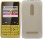 Silicone Nokia Asha 210 Blanche pour Nokia