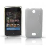 Silicone Nokia Asha 501 Blanche pour Nokia