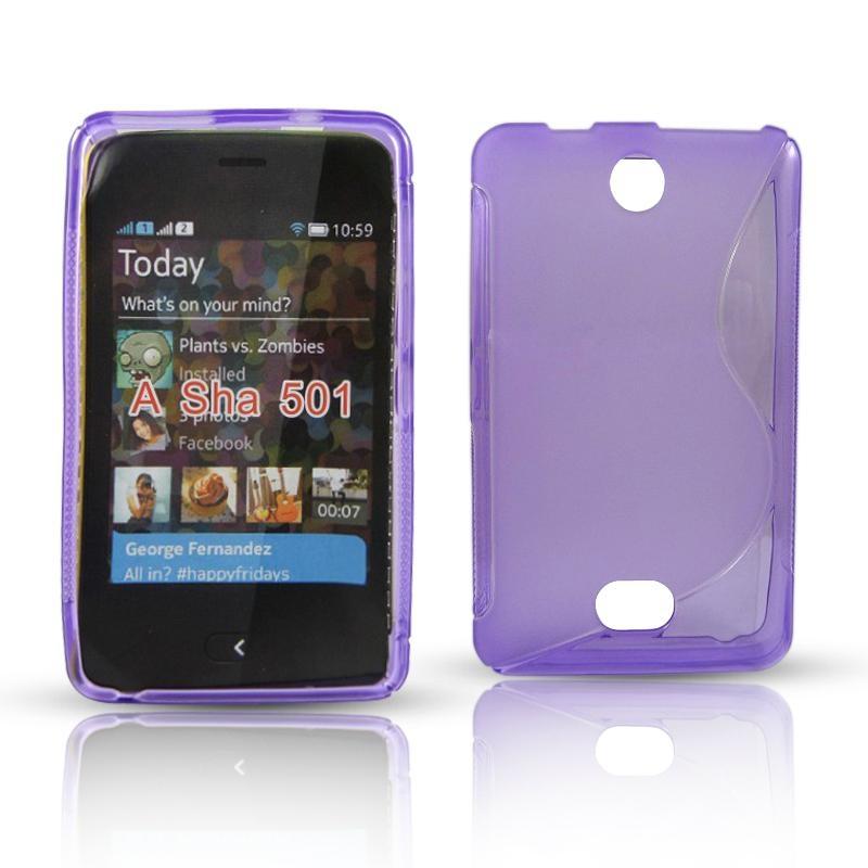 acheter Silicone Nokia Asha 501 Violet