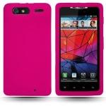 Pink Silicone Case Motorola Droid Razr for Motorola
