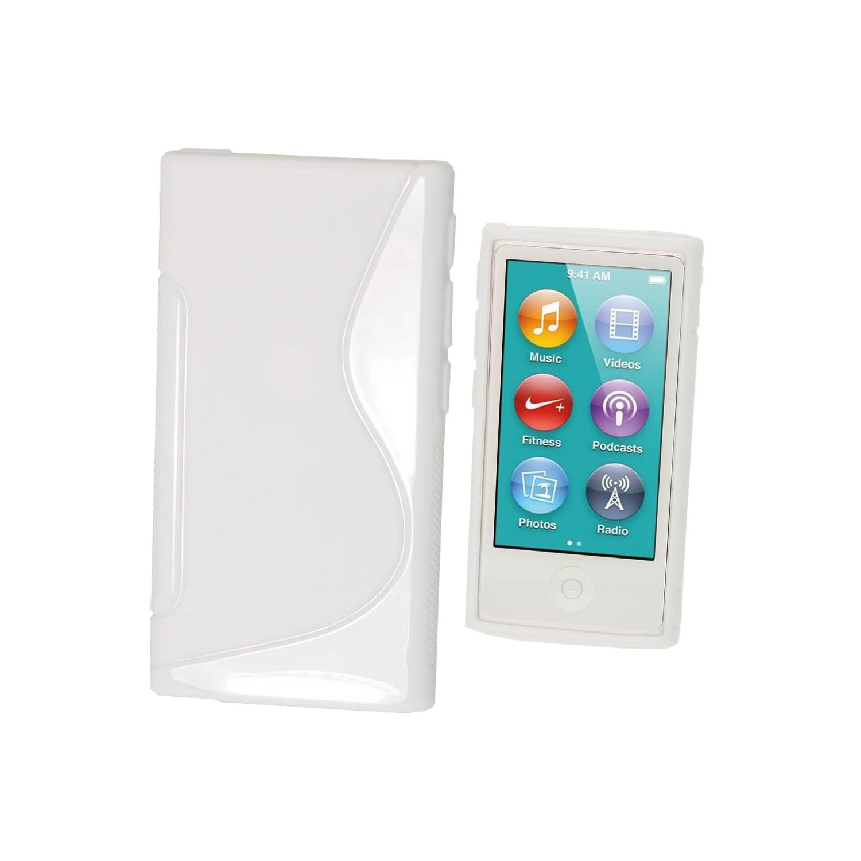 Silicone ipod nano 7 blanc collection s line for Housse ipod nano 7