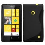 Silicone Nokia Lumia 520 Noir pour Nokia