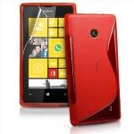 Silicone Nokia Lumia 520 Rouge pour Nokia