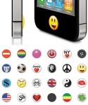Pack de 24 stickers bouton home iPhone / Ipod pour Apple