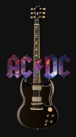 AcDc Guitare Gibson Angus