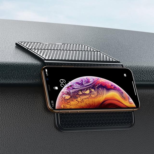 Folding Bracket Antiskid Pad Self-adhesive Holder Nanopad black