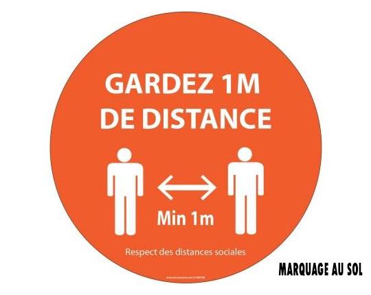 Sticker Keep 1m away orange vinyl