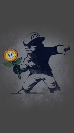 Banksy Flower bomb
