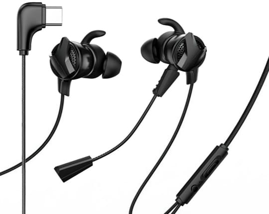 USB Typ C Wired Earphone Gamer Gaming Headset Hi-Fi Earbuds with Dual Microphone