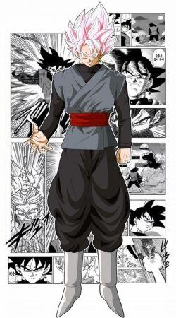Black Goku Scan Art