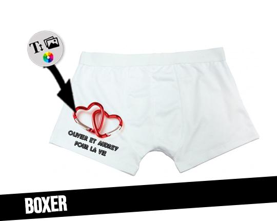 Custom men's boxer