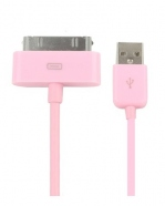 USB Sync Data Charging Cable For iPod iPhone 4/4S iPad2/3 Pink