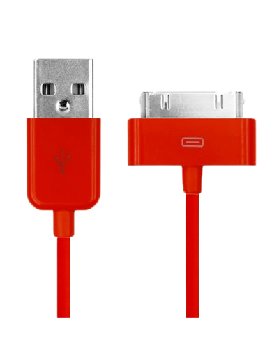 USB Sync Data Charging Cable For iPod iPhone 4/4S iPad2/3 Red