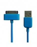 USB Sync Data Charging Cable For iPod iPhone 4/4S iPad2/3 Blue