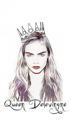 Cara Delevingne Queen Art