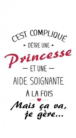 Cest complique detre une princesse et une aide soignante a la fois