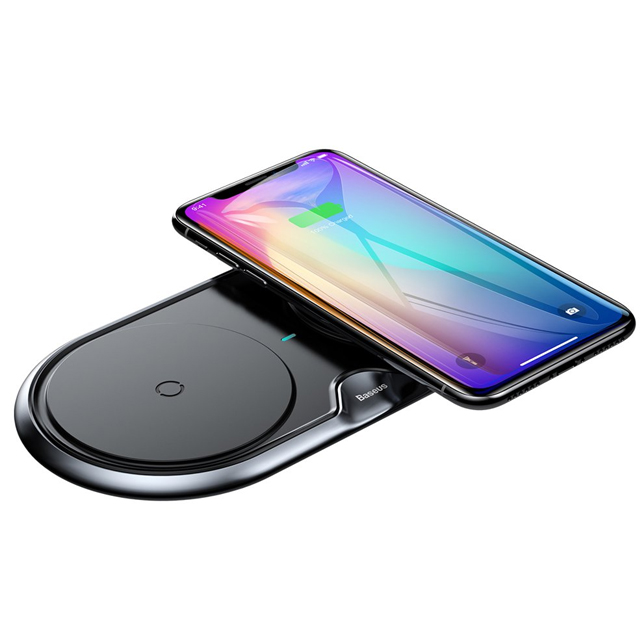 Dual Wireless Qi Charger + Wall Charger EU Quick Charge 3.0 with USB / USB-C Cable