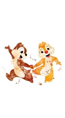 Chip And Dale Watercolor
