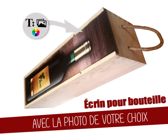 Wooden box for bottle - Wooden case for wine / champagne