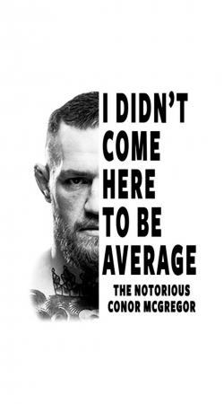 Conor Mcgreegor Dont be average