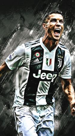 Cr7 Juventus Painting Art