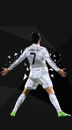 Cristiano Ronaldo Celebration Piouuu GOAL Abstract ART