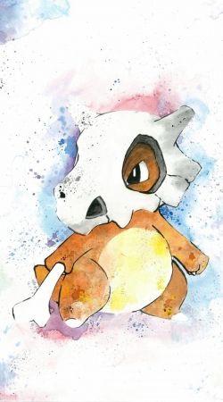 Cubone Watercolor