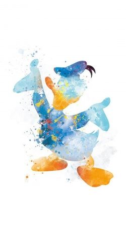 Donald Duck Watercolor Art