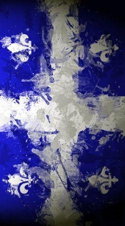 Drapeau Quebec Peinture