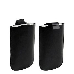 Black pull-up pouch cover case sleeve