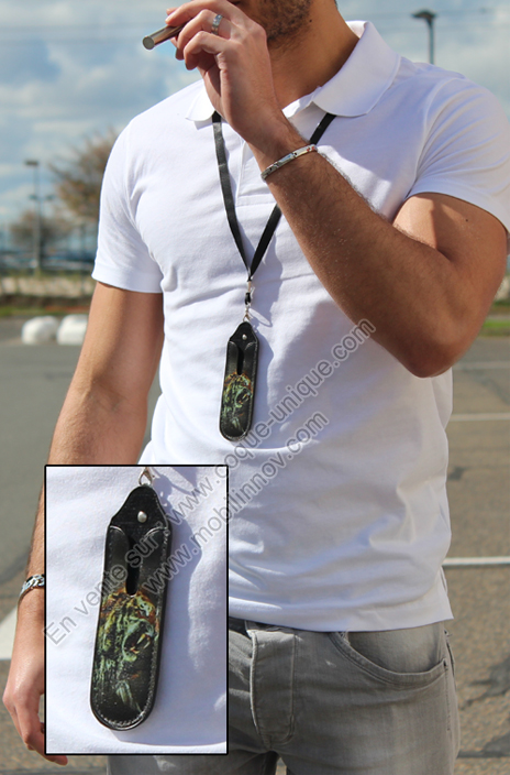 Cigaret Electronic case with Necklace Lanyard