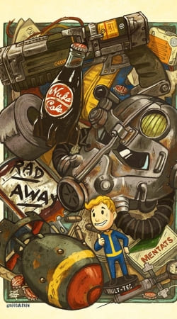 Fallout Painting Nuka Coca