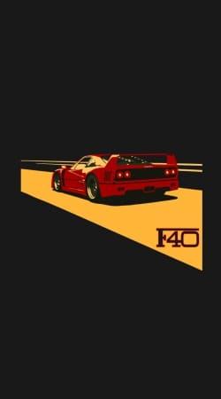 Ferrari F40 Art Fan