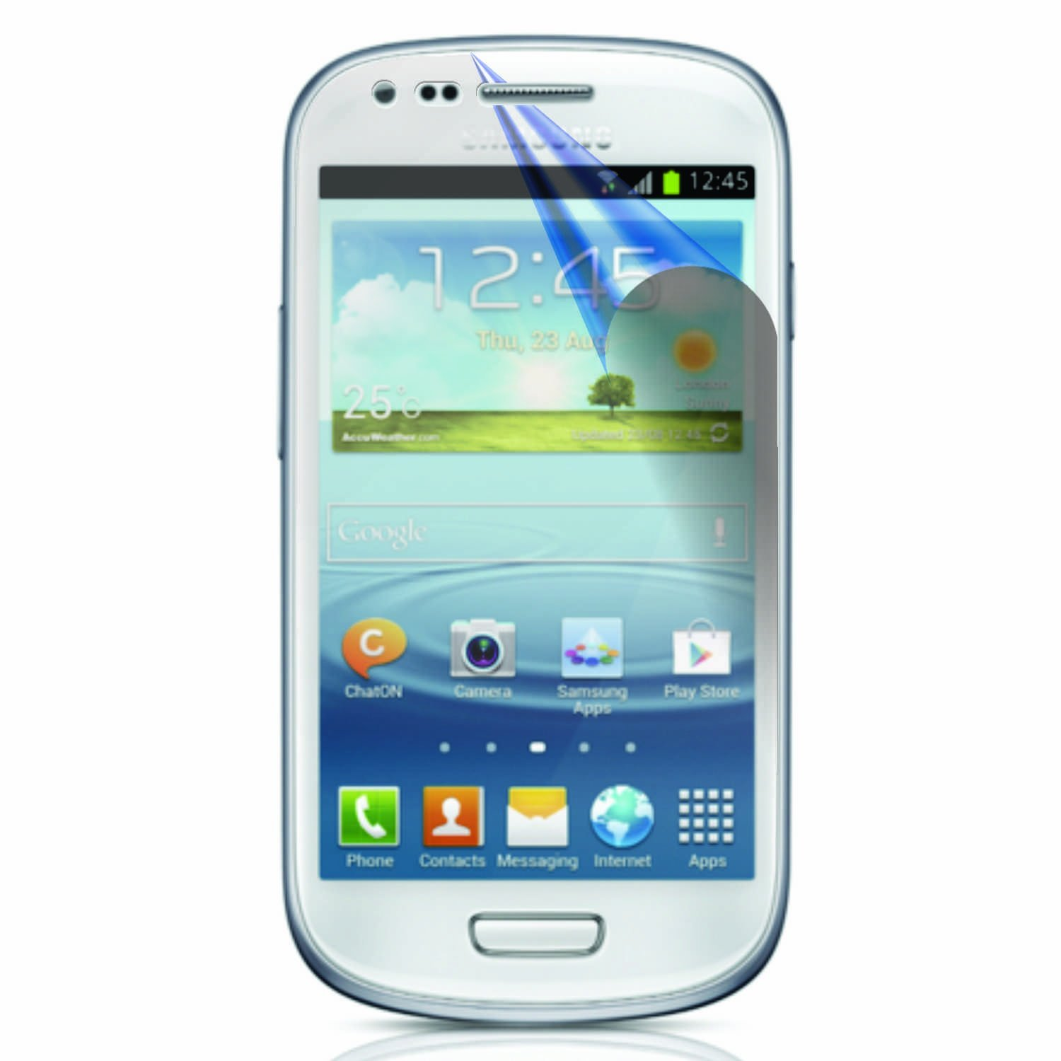 2 Protective Screen Film Samsung Galaxy S3 Mini i8190