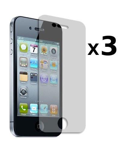 3 Protective Screen Films Iphone 4/S