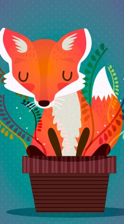 Fox in the pot