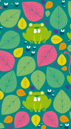 Frogs and leaves