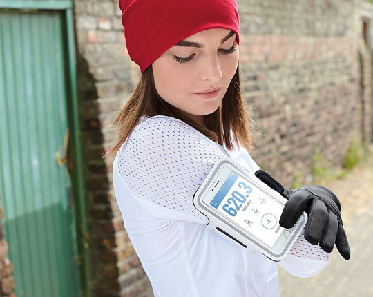 Sports gloves tech softshell Touch Hoesje voor Iphone X / Iphone XS
