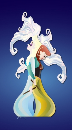 Artwork Gemini - Elsa & Anna do Samsung Galaxy ACE 2 i8160