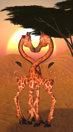 Artwork Giraffe Love do Samsung Galaxy ACE 2 i8160