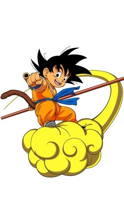 Goku Kid on Cloud GT